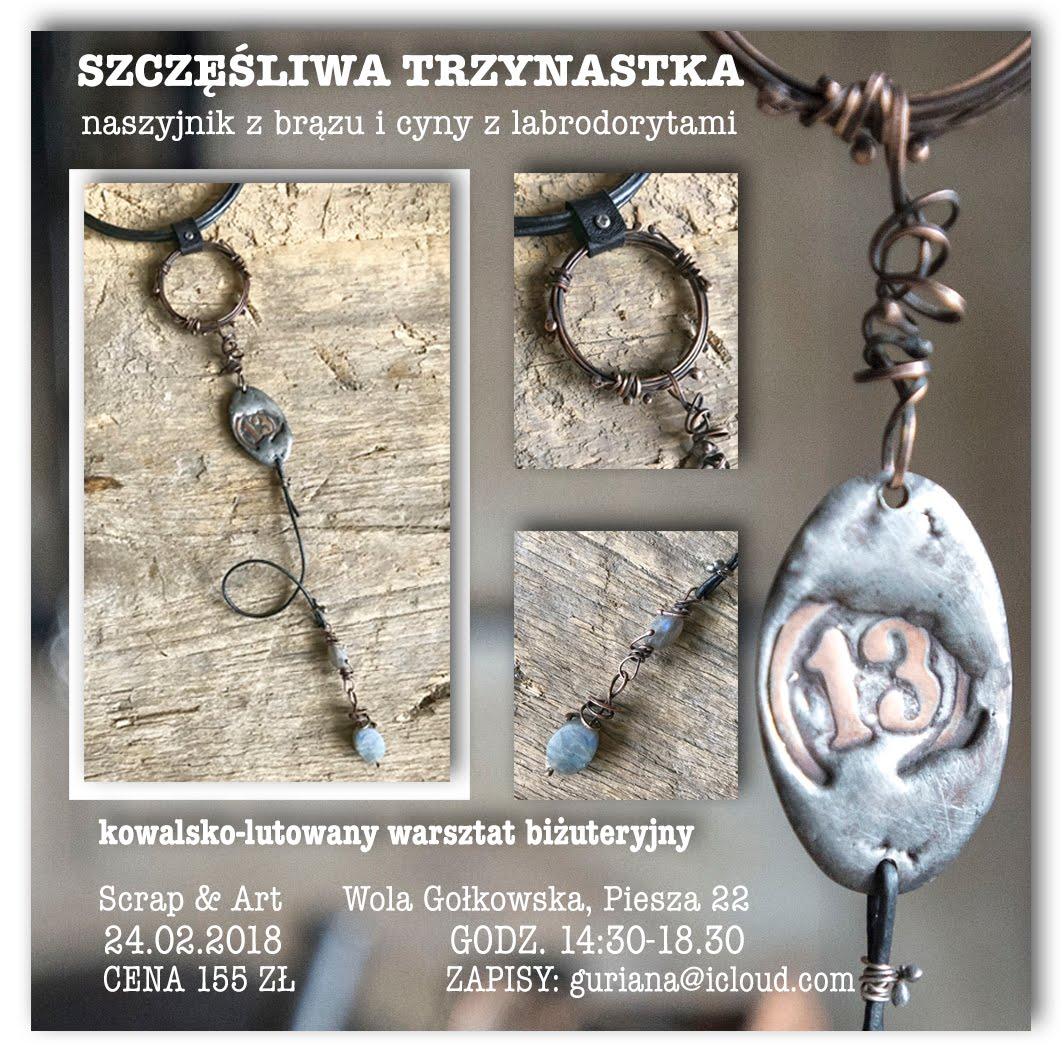 """Warsztat biżuteryjny """"Szczęśliwa trzynastka"""" w Warszawie"""