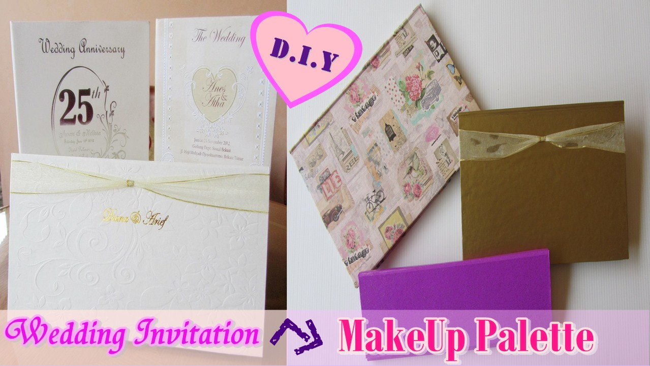 Diy makeup palette from wedding invitation cardcardboard with here is another do it yourself by reuserecycle other unused item such wedding card invitation especially with cardboard inside it dont throw it stopboris Gallery