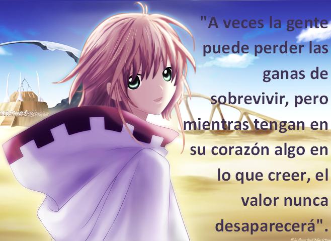 Frases con fotos del anime. Sakura2
