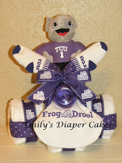 Purple Tricycle Diaper Cake