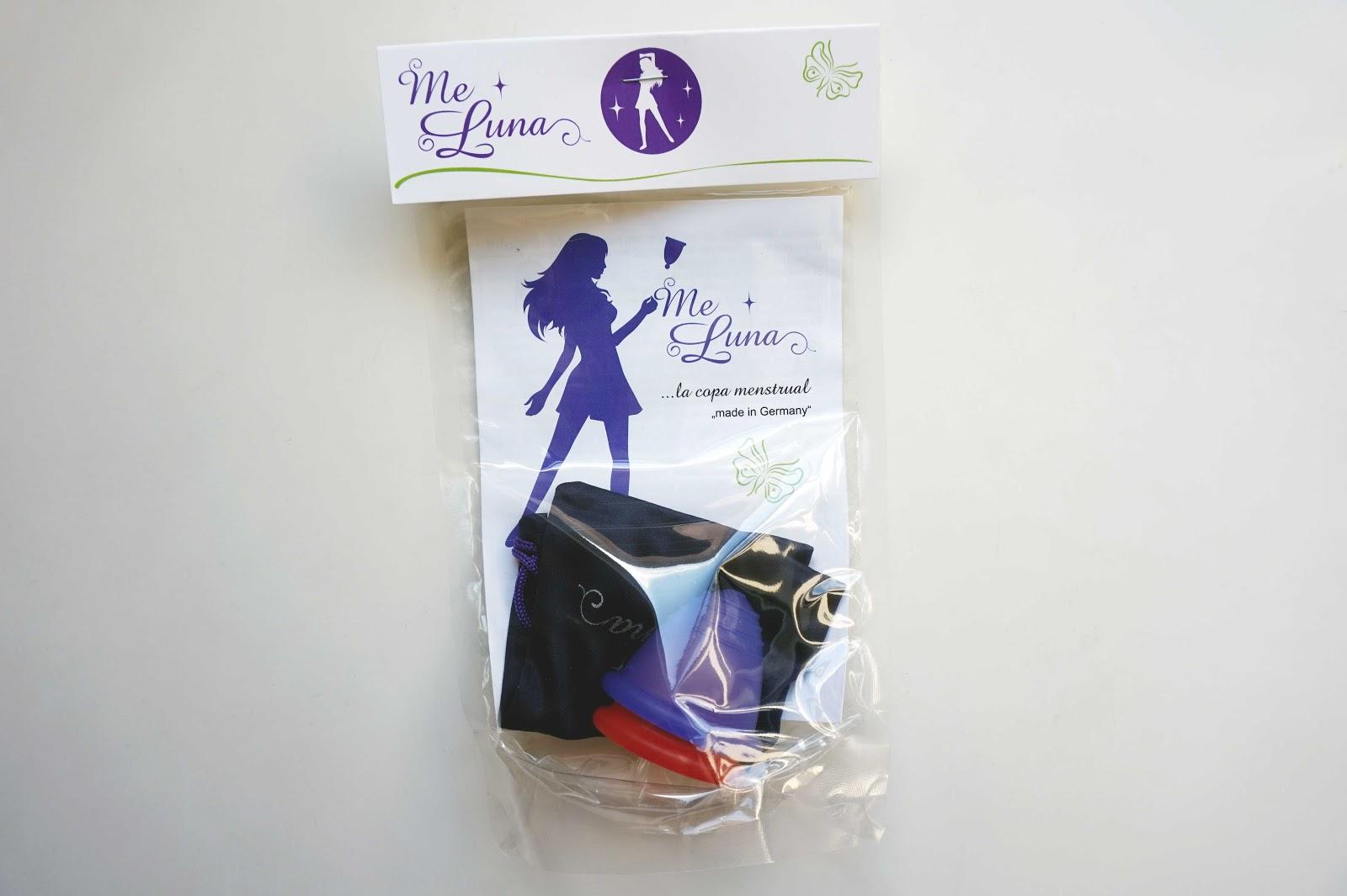 Me Luna menstrual cup packaging