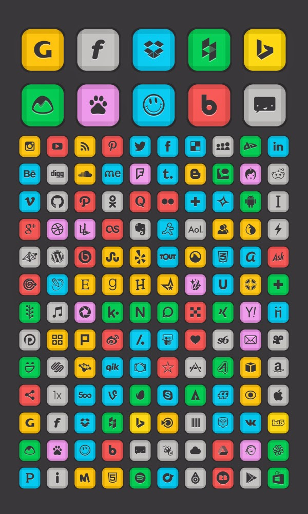 130 Social Networking Icons