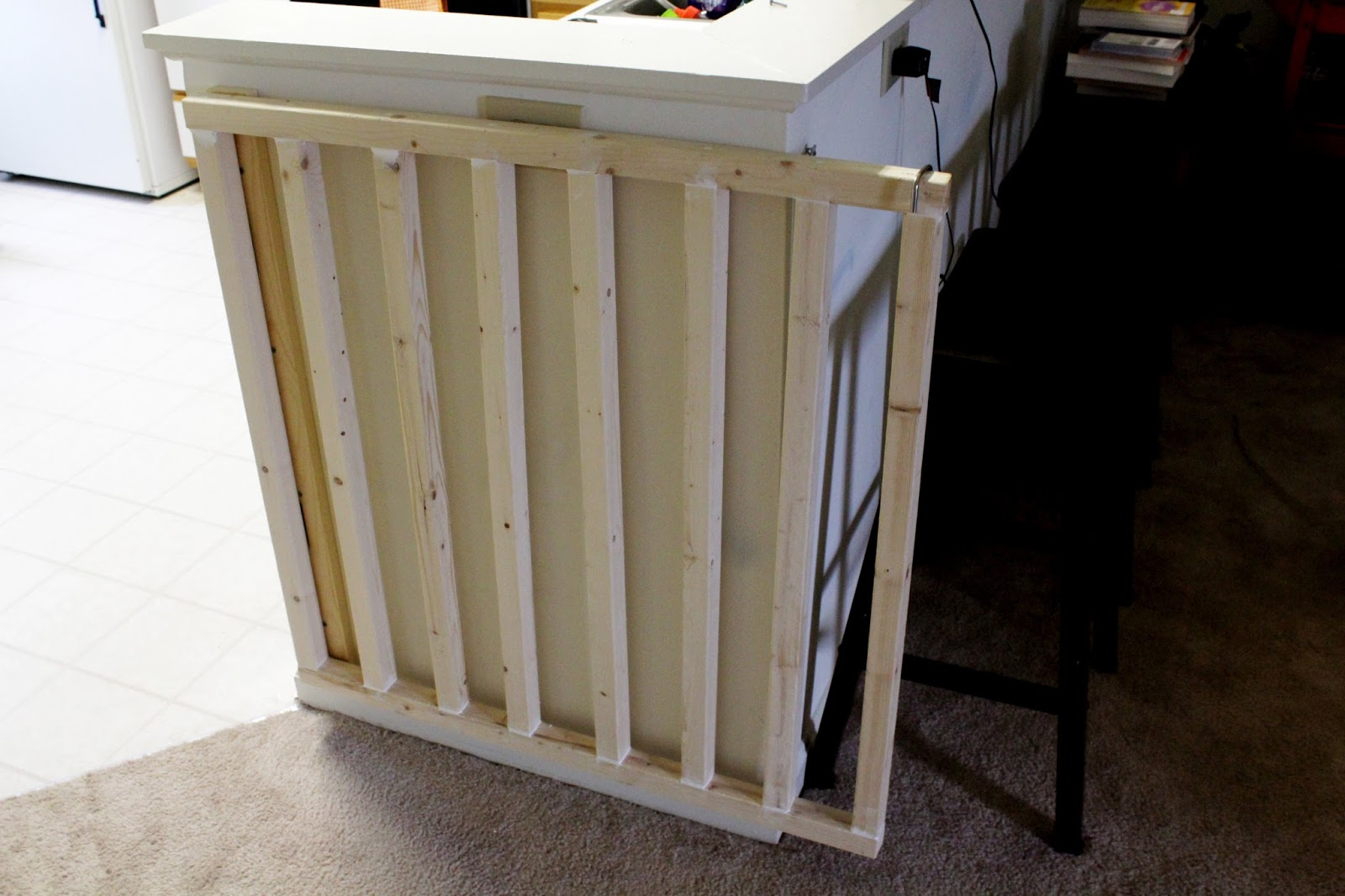 DIY | Angled Dog Gate - The Affourtable Life