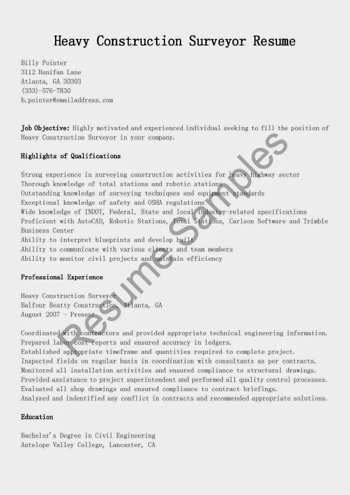 Quantity Surveyor Resume 27.04.2017