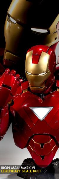 Iron Man Mark 3000 ~ Iron man mark vi legendary scale bust sideshow sg toys