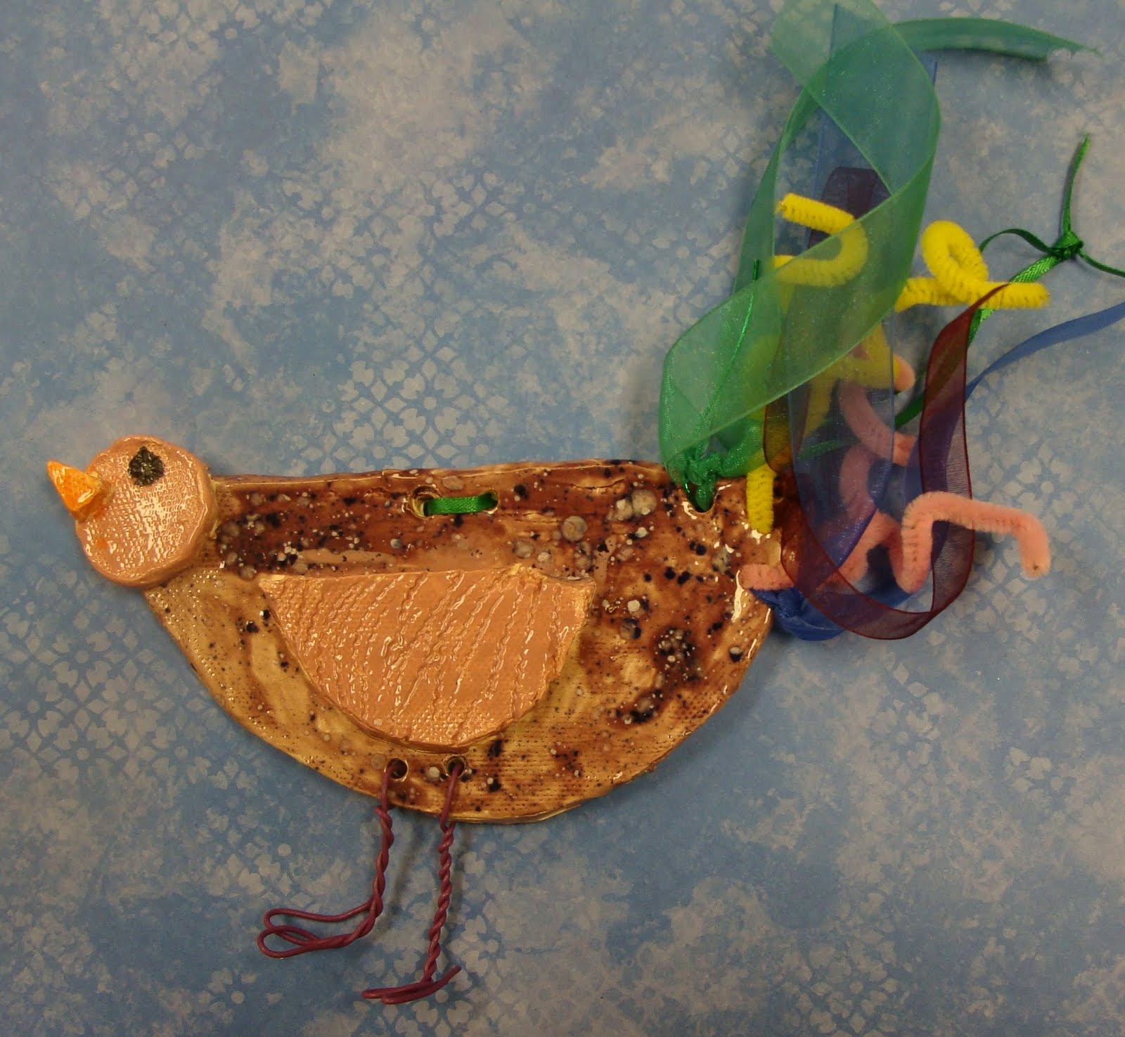 how to make a clay bird step by step