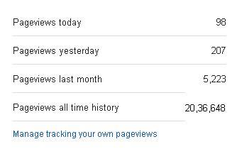 PAGE VIEWS HISTORY