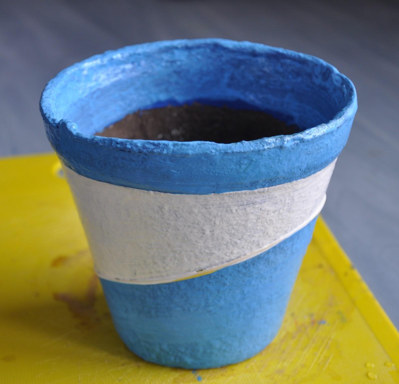 Красивый горшок из бетона своими руками 23