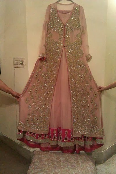 Pakistani new bridal dresses frocks 2014 pak fashion for Pakistani dresses for wedding parties