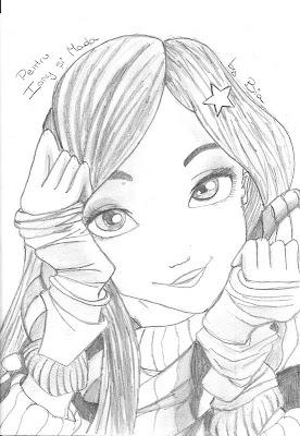 Il blog di bia disegno di una ragazza - Immagine di una ragazza a colori ...