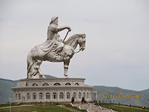 Equestrian statue of Genghis Khan at Tsonjin Boldog, Mongolia