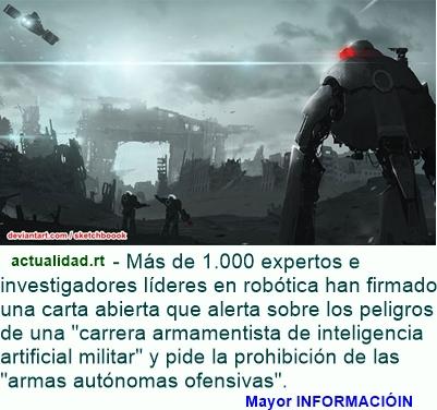 MUNDO: Elon Musk y Stephen Hawking pretenden salvar al mundo de robots asesinos
