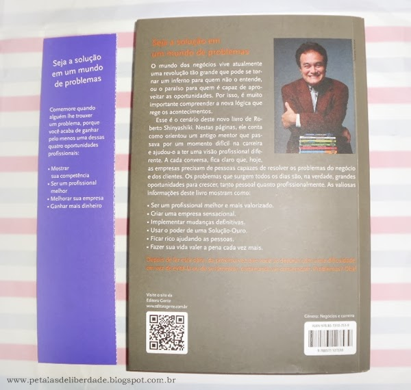 contracapa, livro, resenha, Problemas? Oba!, Roberto Shinyashiki, sorteio, como resolver problemas, Editora Gente