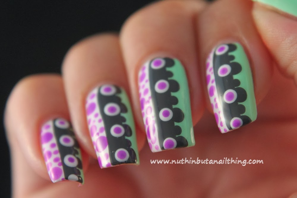 Nuthin But A Nail Thing Polka Dot Nail Art Tutorial