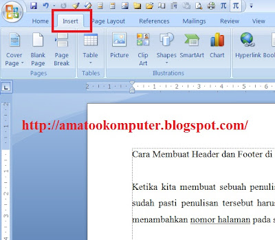 Cara Membuat Header dan Footer di Microsoft Word 2007, Header dan Footer, Microsoft Word 2007, Tips Word 2007 1