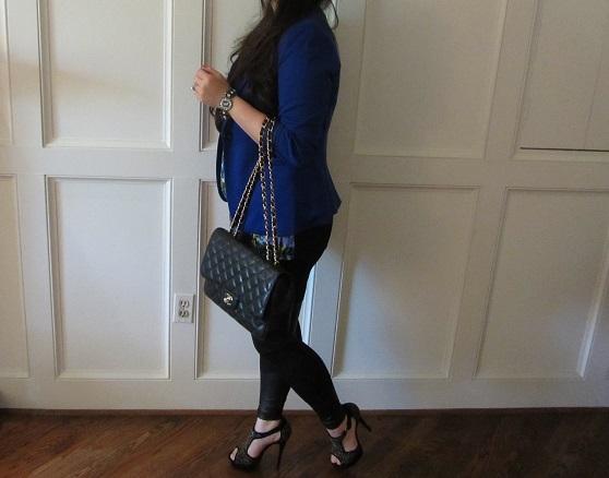 ysl evening bag - COCOBELLA BALLERINA: OOTD: Leather Panel Leggings