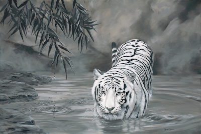 Tiger - Oil on Canvas by: Laura Curtin