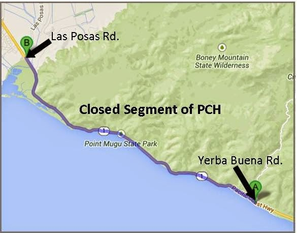Motorists Are Being Detoured Onto U S Highway 101 Canyon Roads And Other State Highways