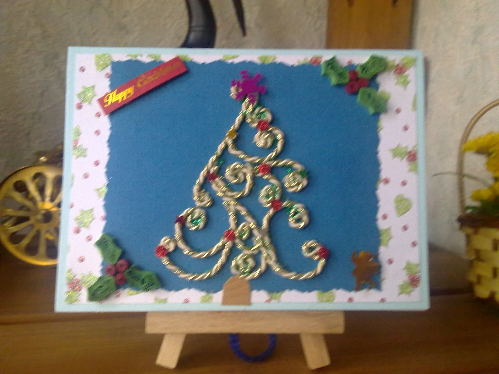 papercrafts: Quilled Christmas Tree ....Cord Filigree