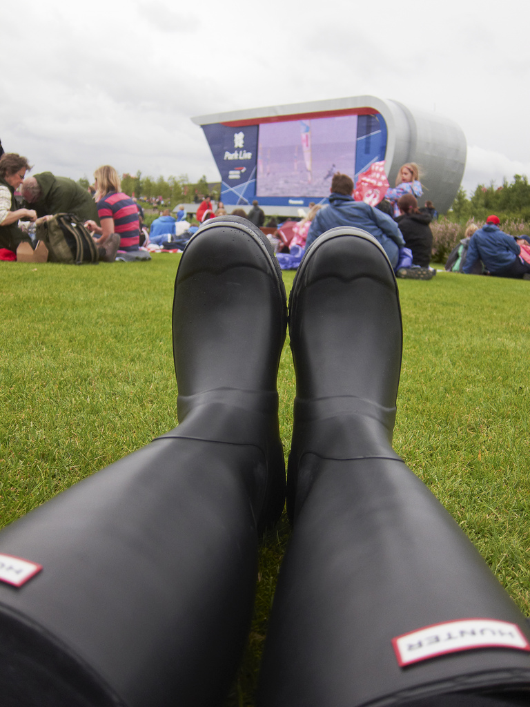 London 2012 Olympic Games Park Park Live Hunter wellies