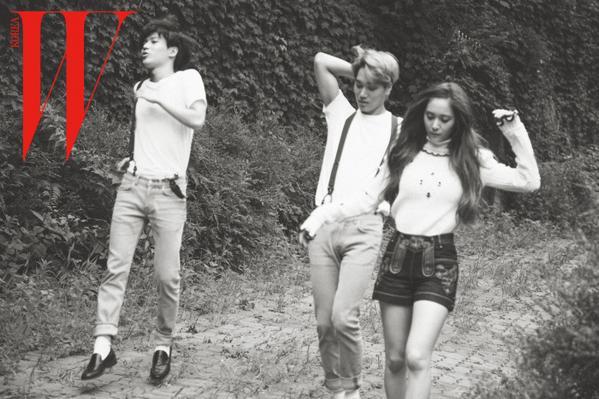 Taemin,Krystal and Kai form triangle for 'W korea'