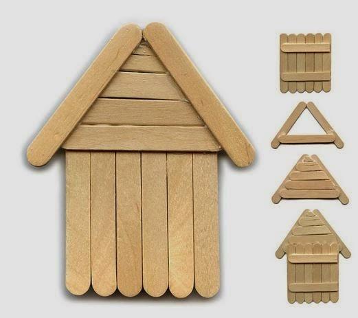 Creative ideas make diy popsicle stick house for Popsicle stick creations ideas