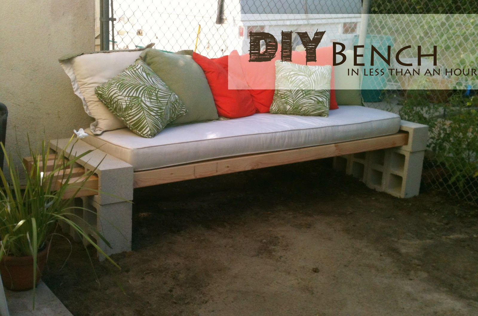 diy garden bench in less than an hour