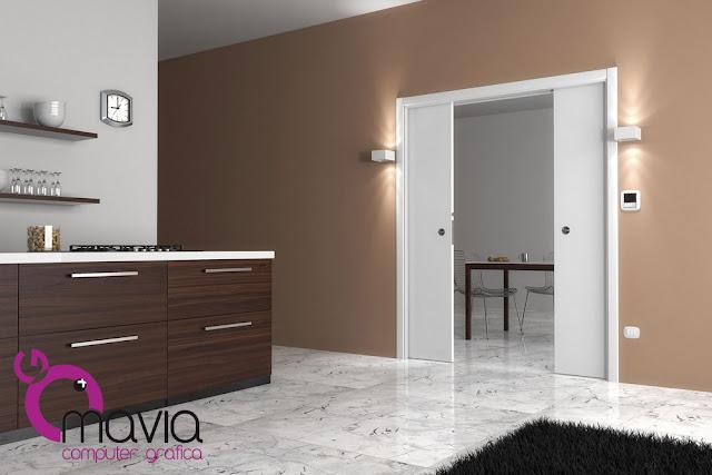 Arredamento di interni rendering catalogo porte interne scorrevoli a scrigno porta in legno - Scrigno per porte scorrevoli ...