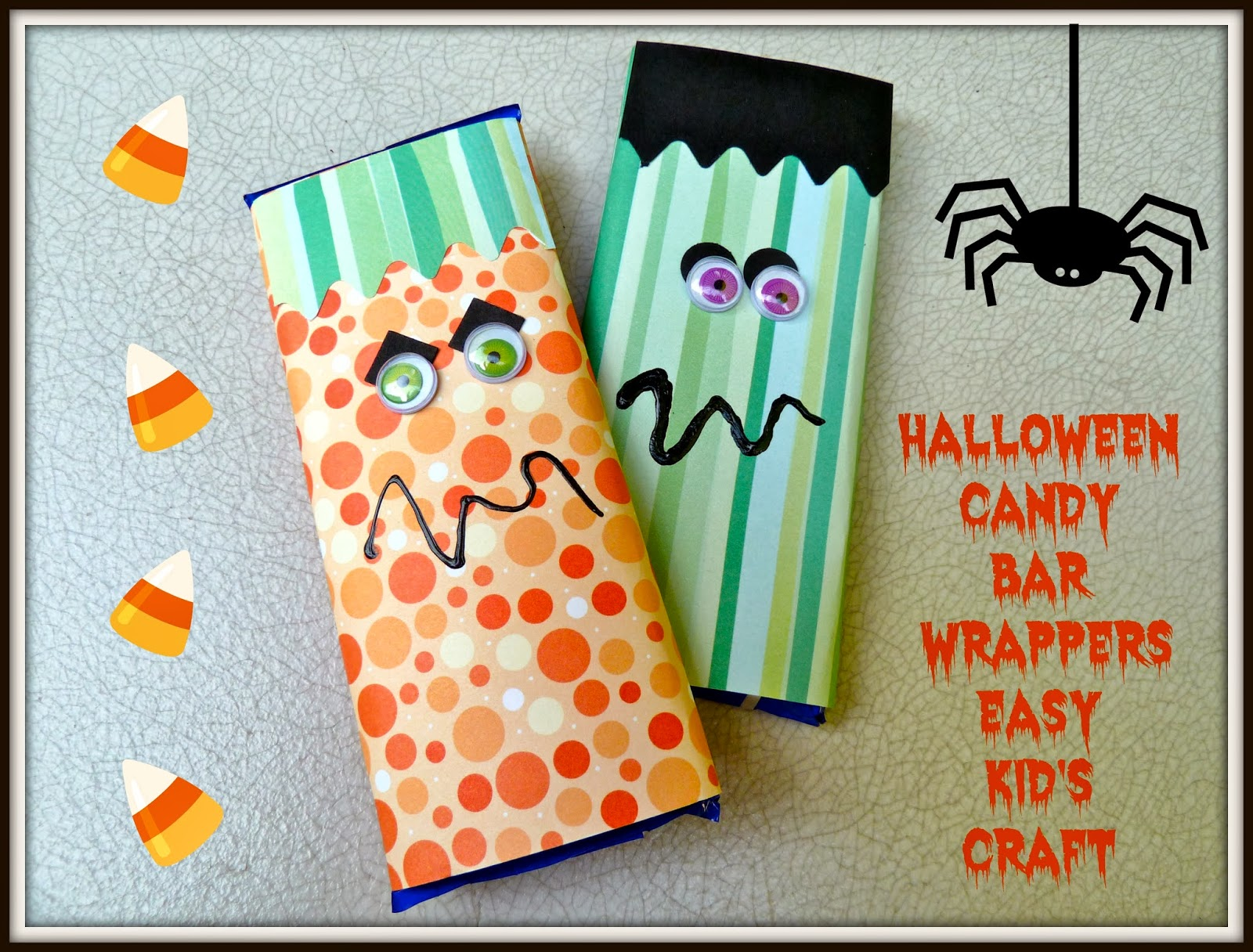 make it easy crafts: halloween candy bar wrappers | kid's craft