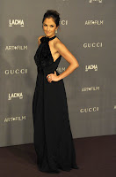 Minka Kelly wearing glamorous black gown at 2012 LACMA Art+Film Gala