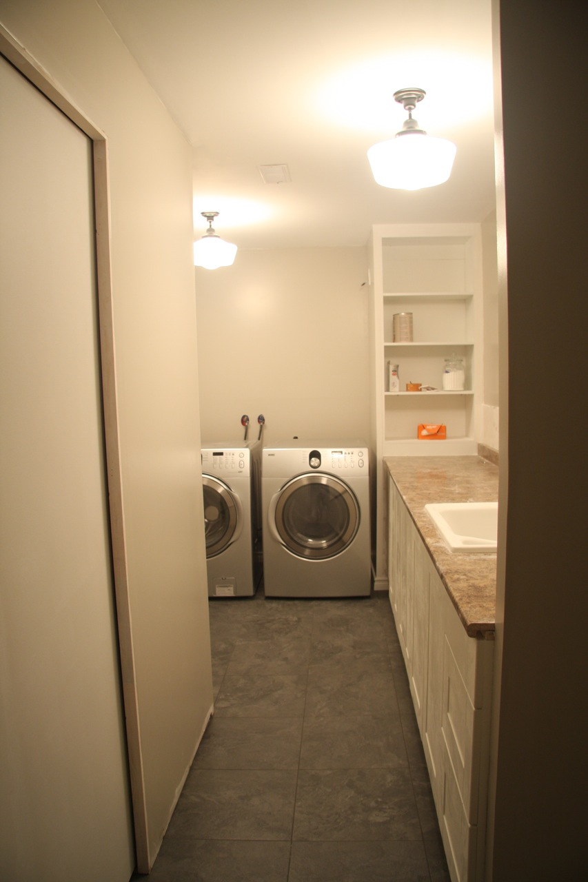 The Loves Live Here Laundry Room Flooring
