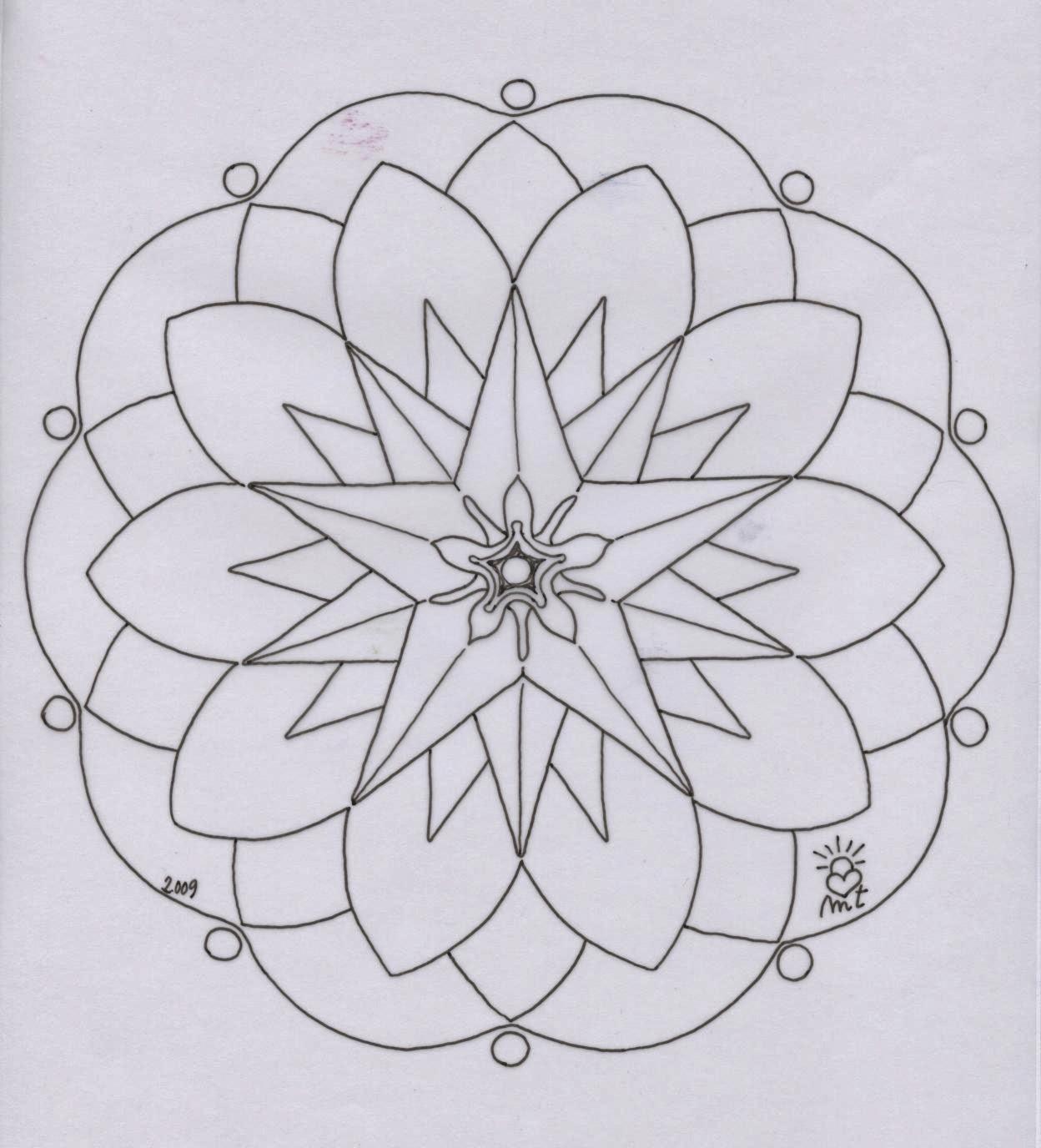 Mandalas para vivir c mo colorear los mandalas - Plantilla mandala pared ...