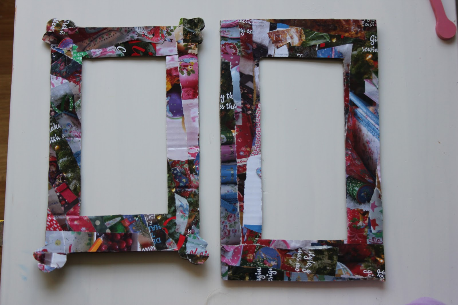 Magazine Collage Picture Frames - The Imagination Tree