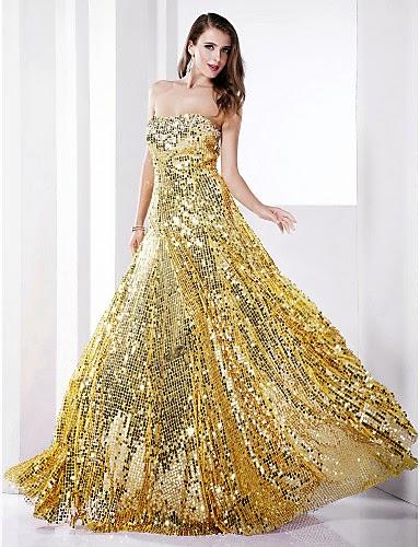 Vestido de Lentejuelas dorado Fatma
