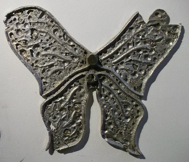 papillon, brut de fonderie