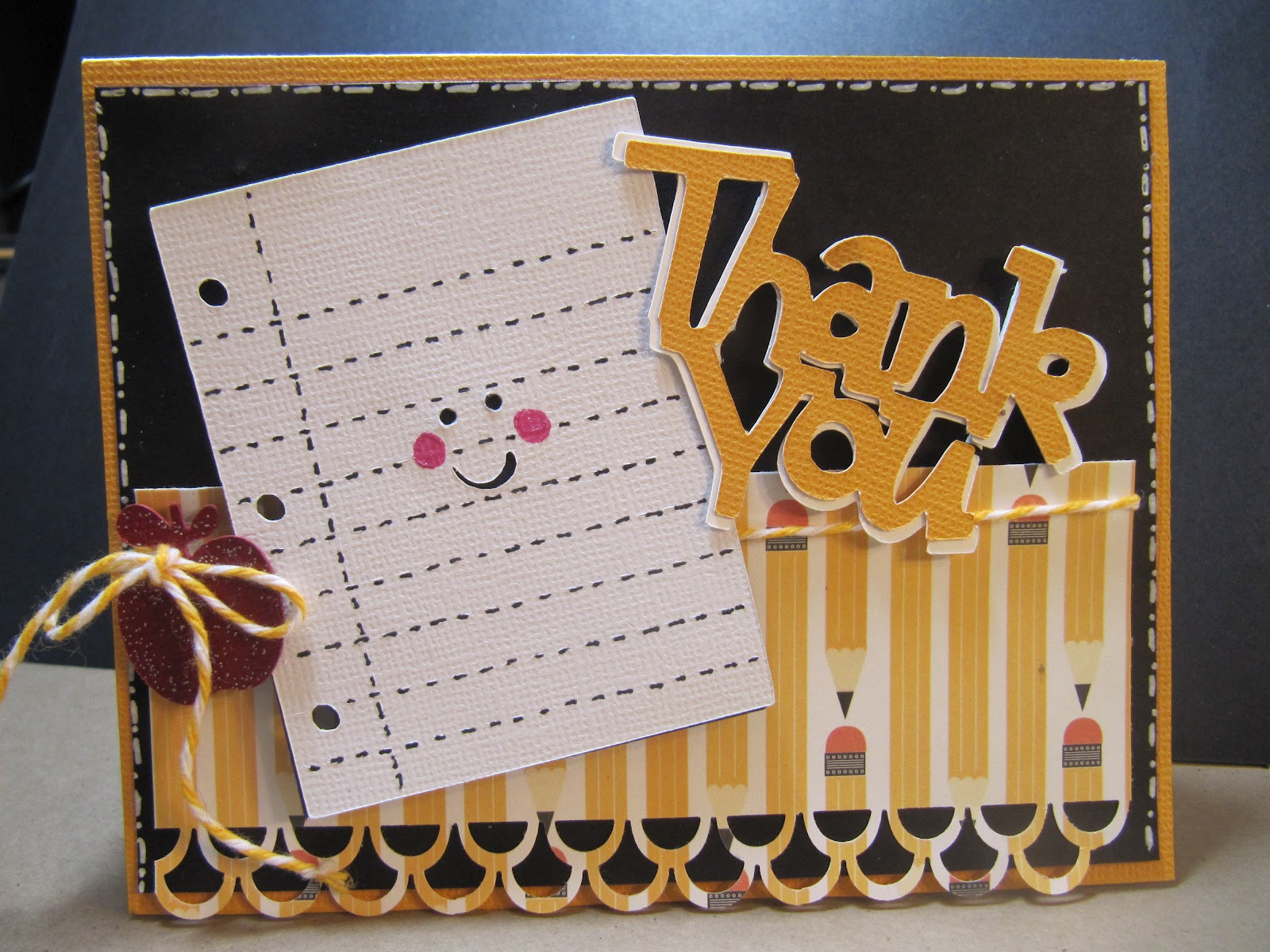 Sunshine creations and crafts thank you card teacher for Thank you crafts for teachers