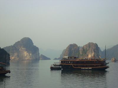 Barco junco. Bahia de Halong