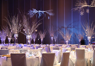 Elegant Winter Wonderland Wedding Centerpieces