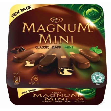My happy kitchen test: Magnum mini mint