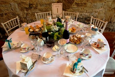 Wedding table setting with our gorgeous vintage china and delicious food & My Vintage Tea Party Sussex: Wedding Vintage Afternoon Tea Party