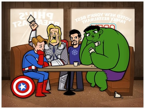 15-The-Avengers-Freelance-Illustrator-and-Designer-Justin-White-aka-Jublin-Movies-&-TV-Shows-Series-as-Cartoons-www-designstack-co