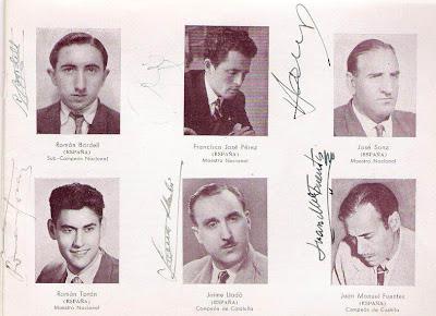 Román Bordell, Francisco José Pérez, José Sanz, Román torán, Jaime Lladó y Juan Manuel fuentes