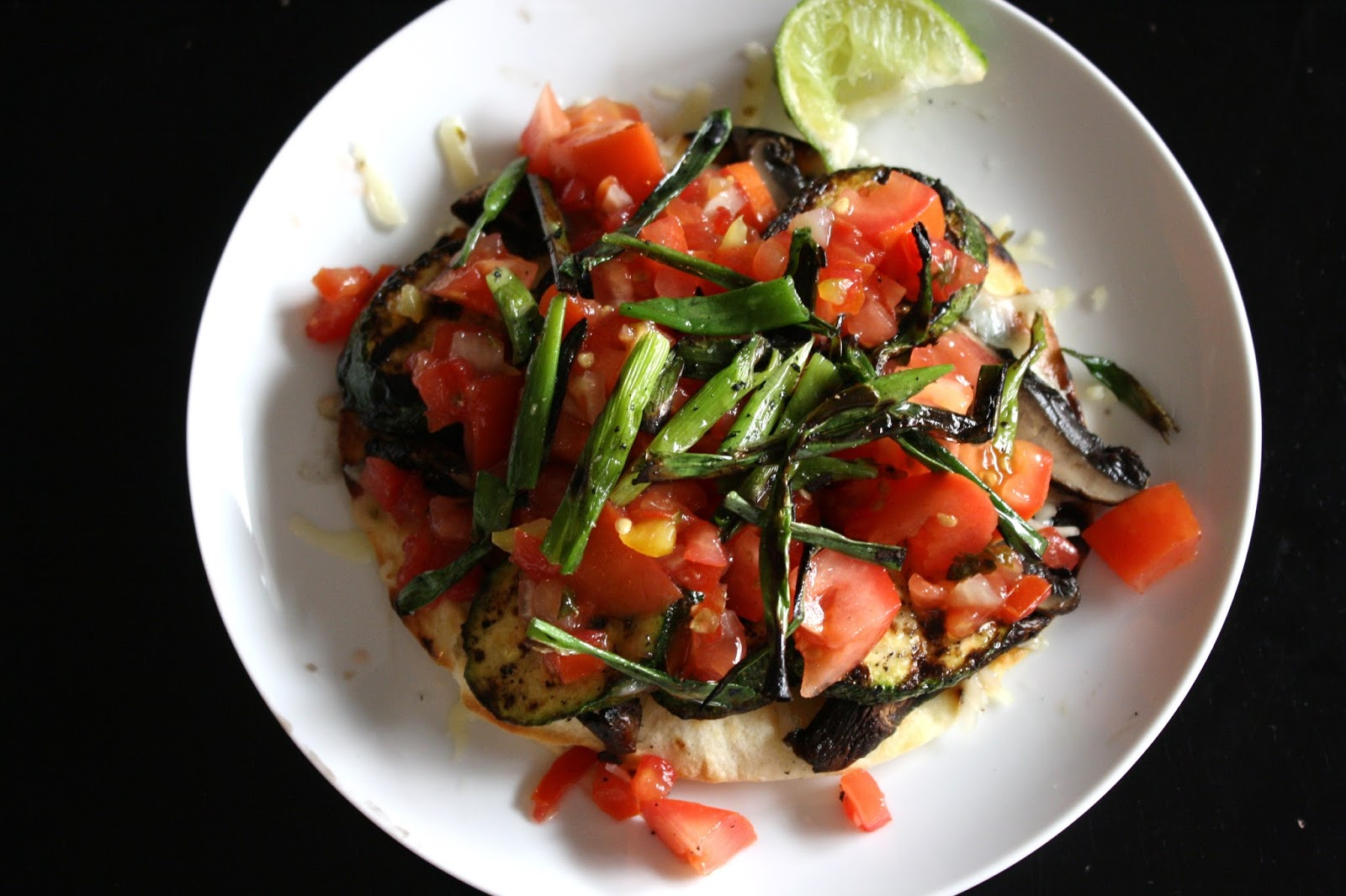 what's for dinner?: grilled vegetable tostadas... 35 minutes