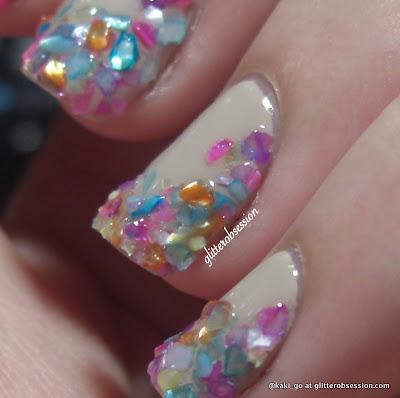 glitterobsession: sea shells nail art
