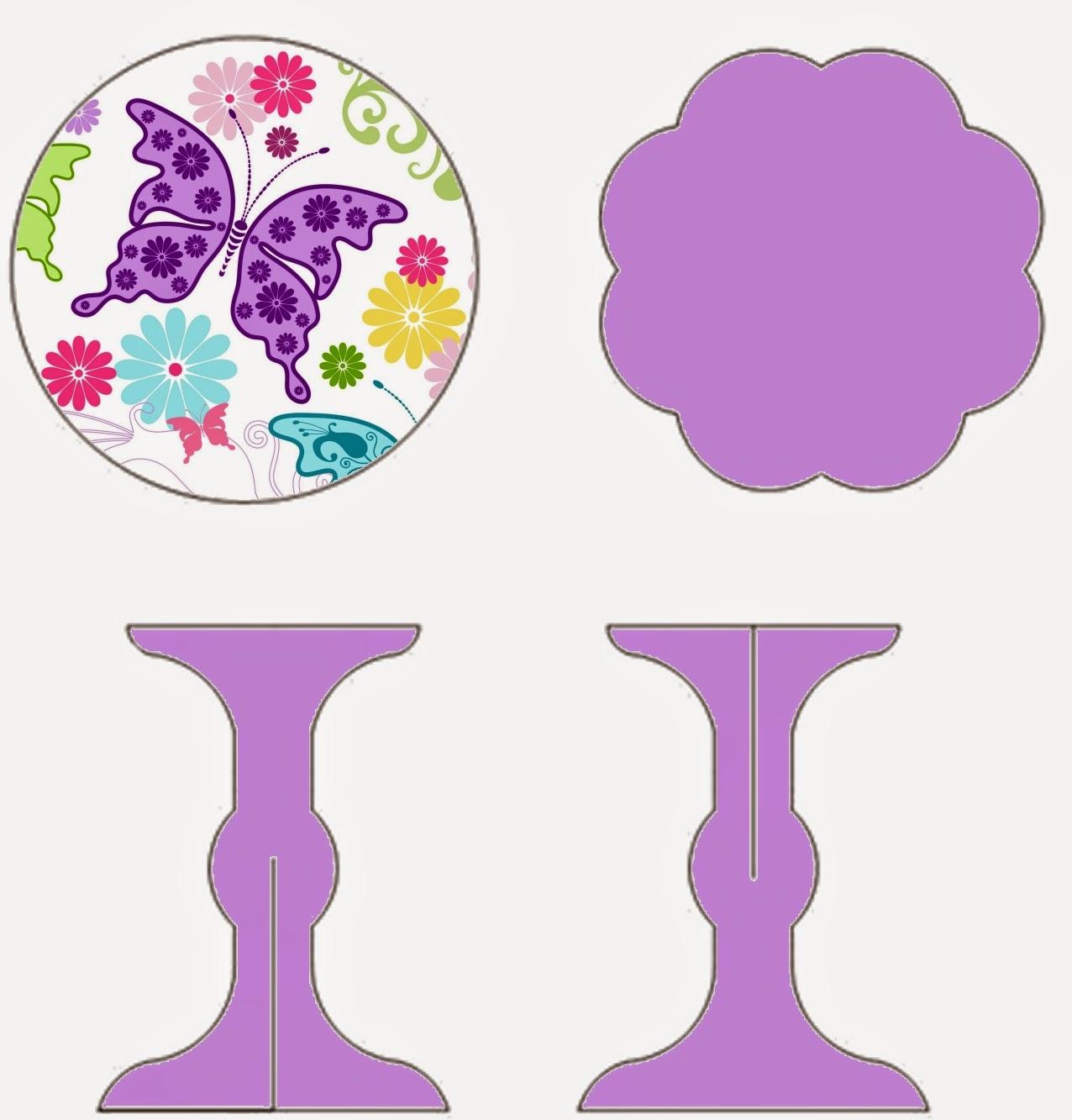 Mariposas: Stand para Cupcakes para Imprimir Gratis.   Ideas y ...
