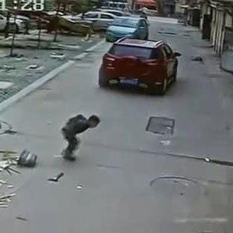 Menino sobreviveu milagrosamente após ser atropelado