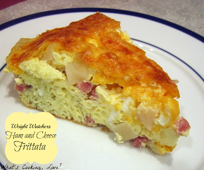 http://whatscookinglove.com/2012/05/weight-watchers-ham-and-cheese-frittata/