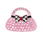 seema sparkle pink purse