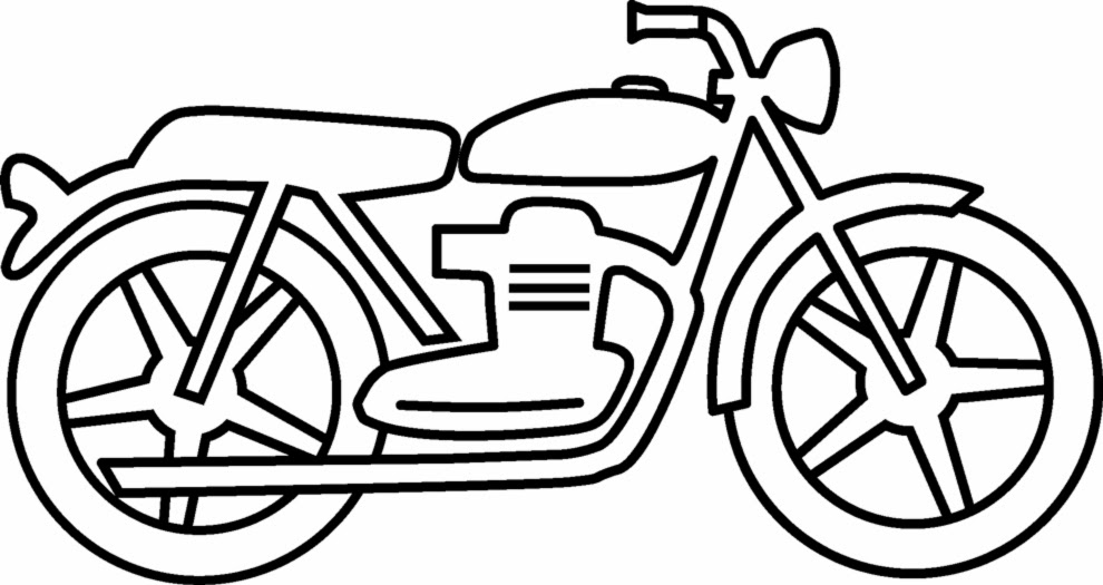 Line Art Year 2 : Disegni di moto da colorare