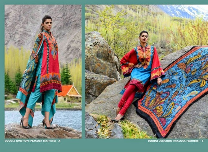 WardaSaleemLawn2014ByShariqTextile wwwfashionhuntworldblogspot 2  - Warda Saleem Lawn Collection 2014 By Shariq Textile